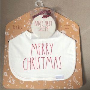Rae Dunn Baby's First Ornament & MC Bib